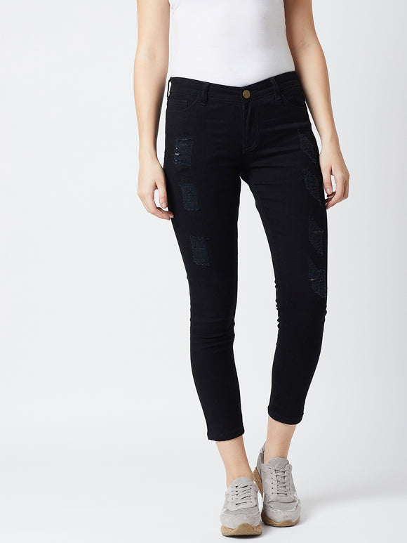 Skinny Black Colour Jeans
