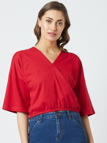 Red Colour Solid Top