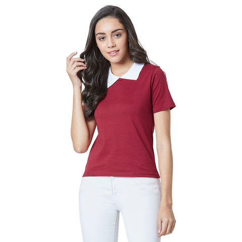 Half Sleeve Red Colour T-shirt