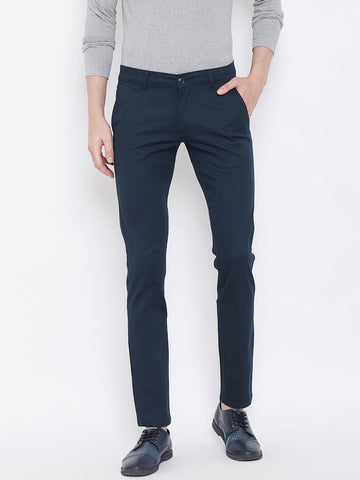 The Dry State Regular Fit Men Blue Trousers
