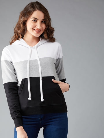 The Dry State Full Sleeve Color Block Women Sweatshirt