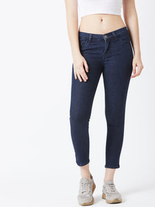 Nevy Blue Coloured Ankle Length jeans