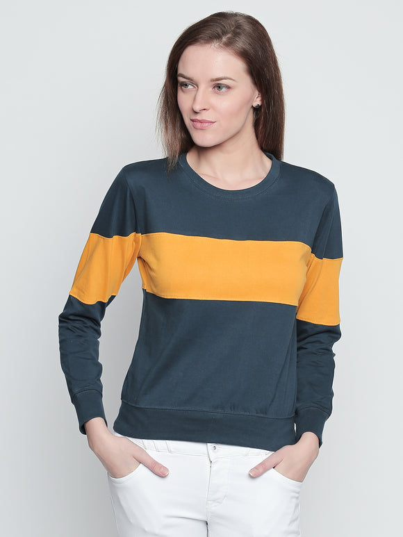 Round Neck Multi Coloured Sweatshirt