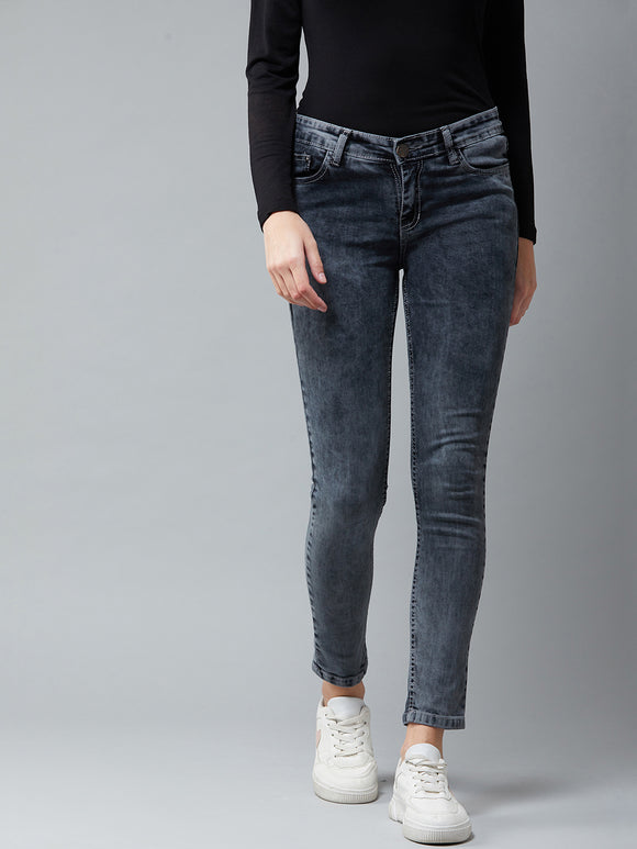 Grey Coloured Ankle Length jeans
