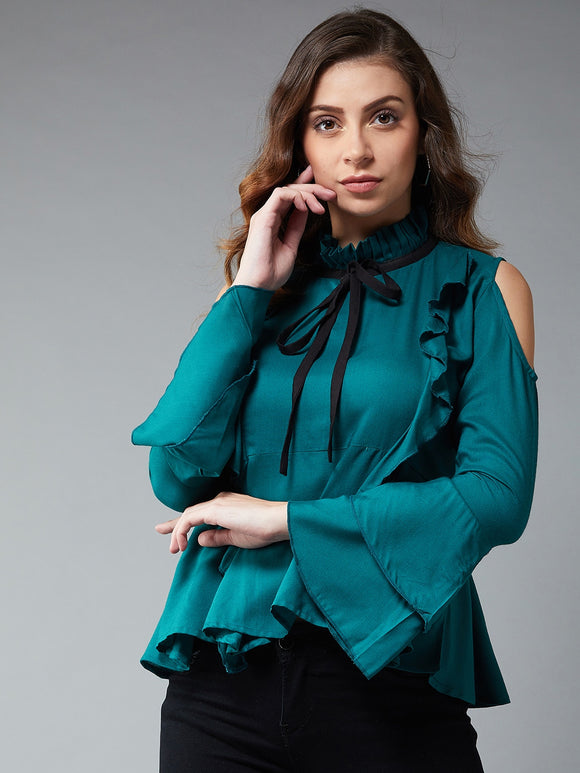 Green Coloured Full Sleeve Top