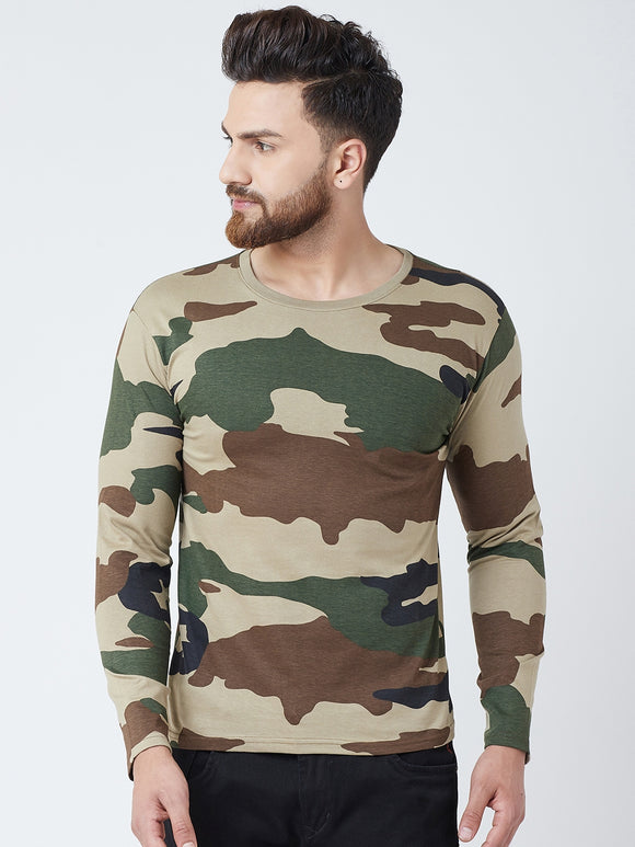 Cotton Multi colour Camoflouge Full sleeves Tshirt