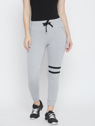Solid Women Grey Track Pants