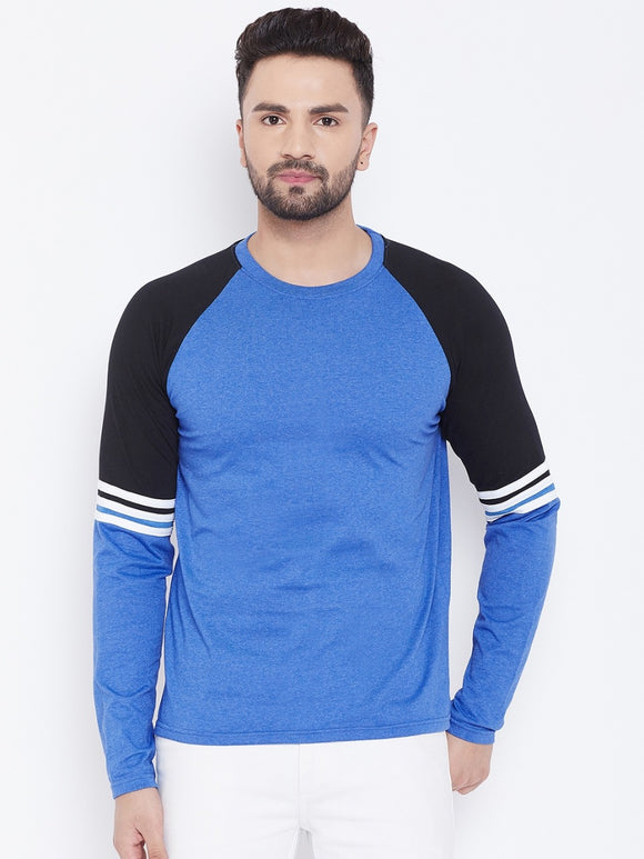 Blue Colour Full Sleeve T-shirt