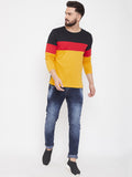 Multi Colour Colourblocked Full Sleeve tshirt