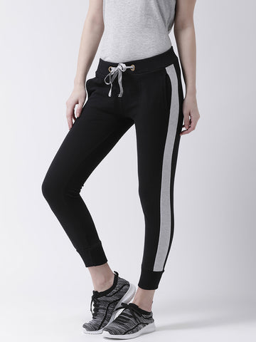 Solid Women Black Track Pants