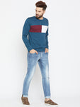 Cotton Colourblocked Full Sleeve Tshirt