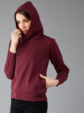 The Dry State Full Sleeve Solid Women Sweatshirt