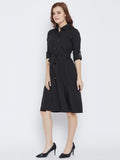 Black Colour Crepe Dress