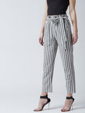 Regular Fit Women Multicolor Trousers