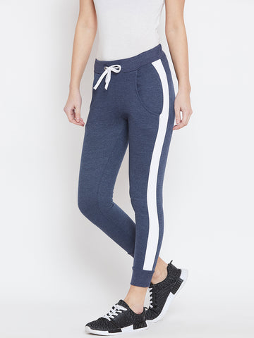 Colorblocked Blue Track Pants