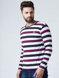 Cotton Striped Full Sleeves Tshirt
