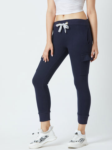 Solid Dark Blue Colour Track Pants
