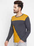 Men's Cotton Multi colour Coloublocked  Full  sleeves   Tshirt