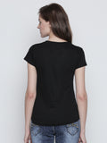 Black printed Short Sleeve t-shirt