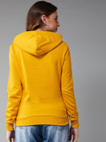 Mustured Hooded Sweatshirt