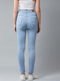 Blue Colured High Waist Jeans