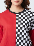 Full Sleeve Red Colour  Sweatshirt
