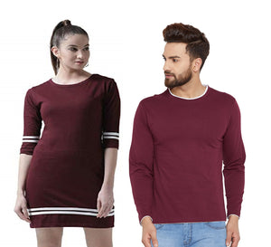 Burgandy Colour Couple Combo