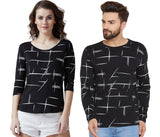 Black Colour Printed Couple Combo