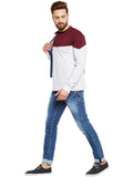 Men's Cotton Multi  colour Coloublocked   Full  Sleeve T-shirt