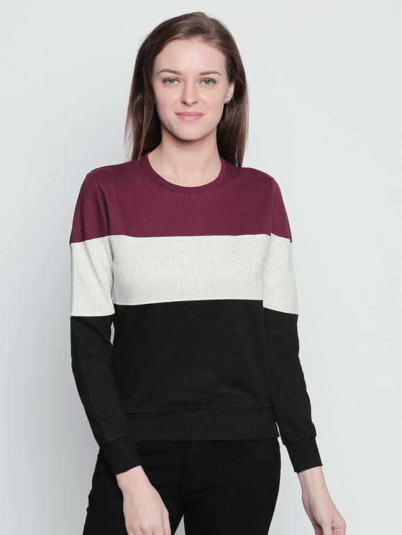 Round Neck Colourblocked Sweatshirt