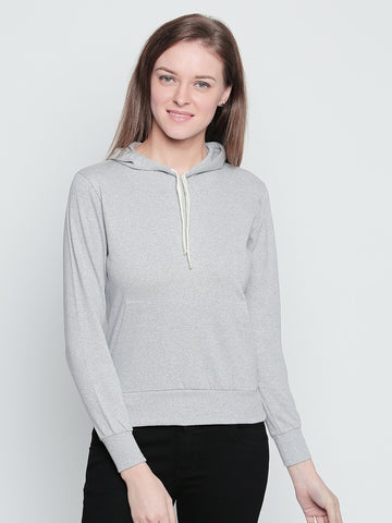 The Dry State Round Neck Solid Women Pullover