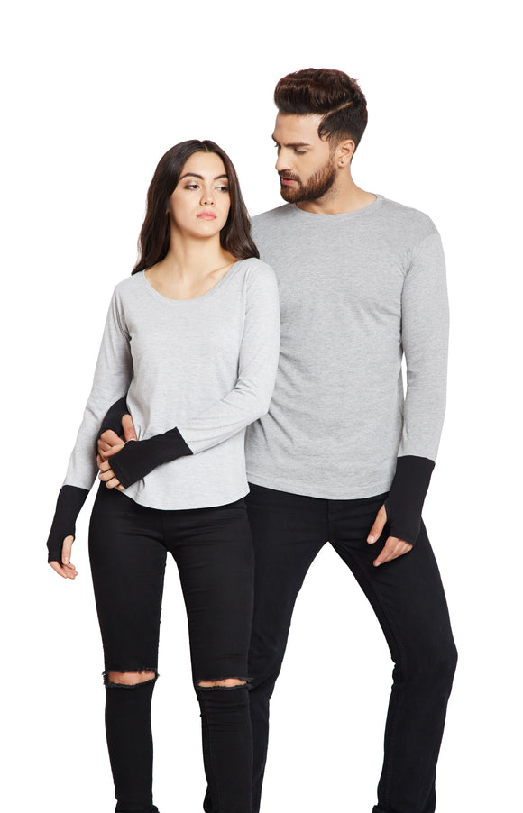 Gray Colour Couple Combo