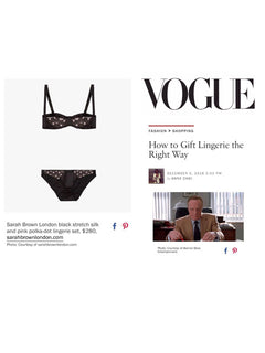 Sarah Brown London Handmade Luxury Lingerie American Vogue