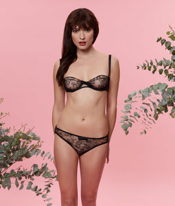 Sarah Brown London Chantilly Lace Balconette Bra Lingerie Set