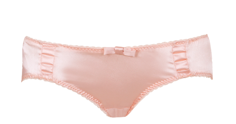 Sarah Brown London Pure Silk Satin Pleated Briefs