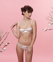 Load image into Gallery viewer, Sarah Brown London Ivory Stretch-Silk Tulle Briefs