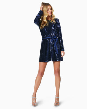 NAVY SEQUIN