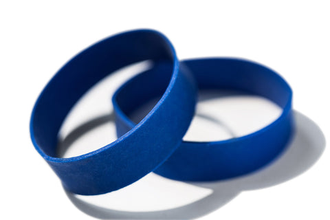 10 Pack of Blue Rubber Bands
