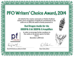 Positive Feedback Online Writer's Choice Award 2014