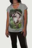 Sale! (orig. $68.00) Pasture Dreams Blue Fog Tunic T Shirt