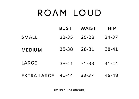 Roam Loud Size Guide