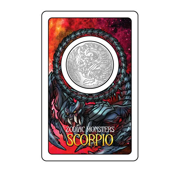 Zodiac Monster Series: SCORPIO 999.0 1/10 oz Silver Coin