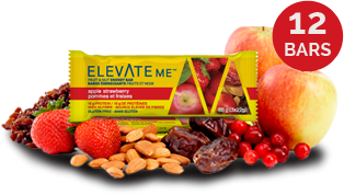 Elevate Me Apple Strawberry Energy Bars