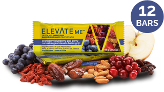 Elevate Me Cranberry Blueberry Goji Berry Energy Bars