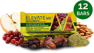 Elevate Me Cranberry Matcha Green Tea Healthy Snack Bars