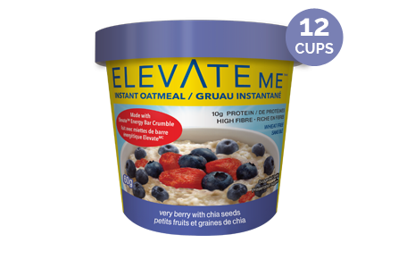 Elevate Me Very Berry Chia Whey Protein Oatmeal