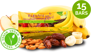 Elevate Me Perk Banana Split Organic Energy Bar