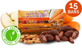 Elevate Me Perk Carrot Cake Healthy Energy Bars