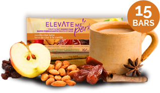Elevate Me Perk Vanilla Chai Latte Healthy Snack Bars