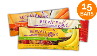 Elevate Me Perk Healthy Energy Bars Variety Pack